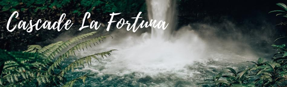 Cascade La Fortuna au Costa Rica - à proximité de La Fortuna